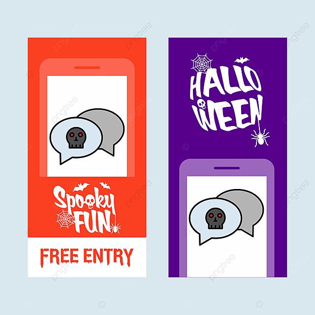 Szczęśliwego Halloween Zaproszenia Projektu Z Pogawędkę Wektor