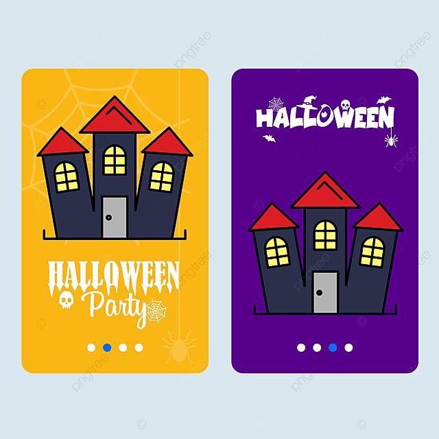 Szczęśliwego Halloween Zaproszenie Na Projektowaniu Domu Wektor