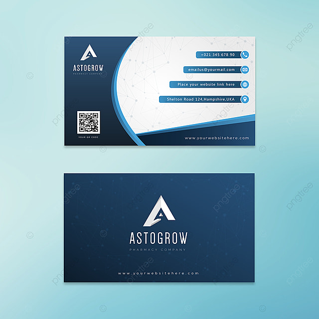 Astogrow Pharmacy Company Business Card Template For Free Download
