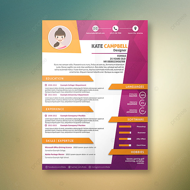 Cv New Graphics A4 Design Template For Free Download On Pngtree