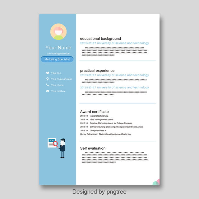 Modern Minimalist Resume Template For Free Download On Pngtree