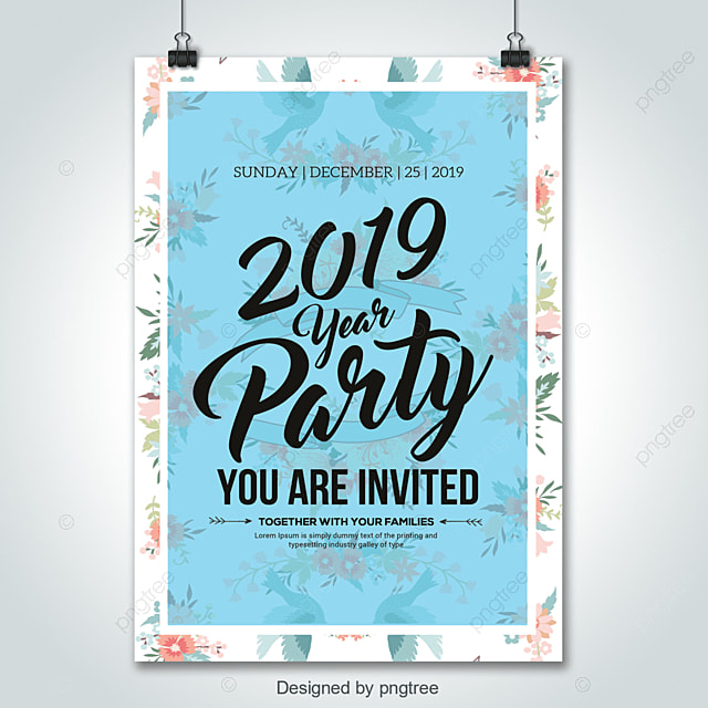 2019 new year party flyer templates template