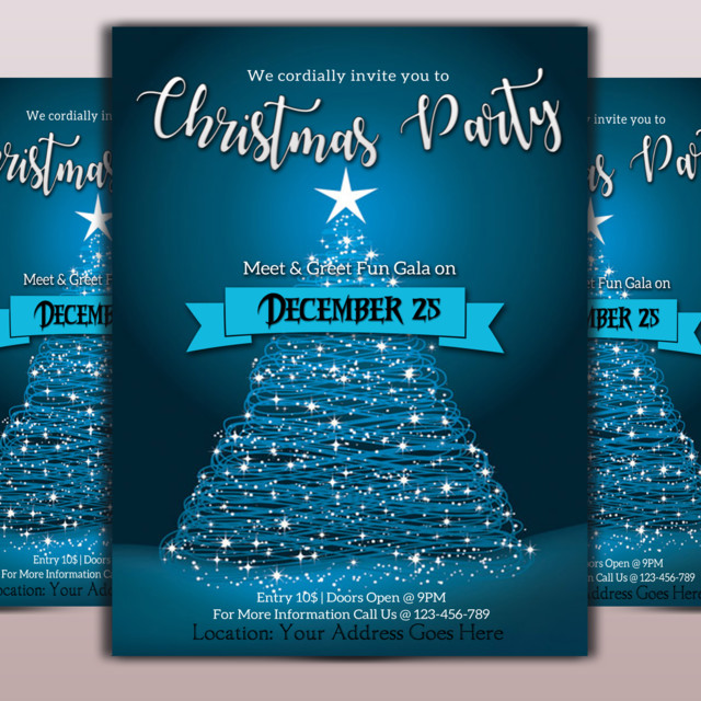 Christmas Event Flyer Template Template For Free Download On Pngtree