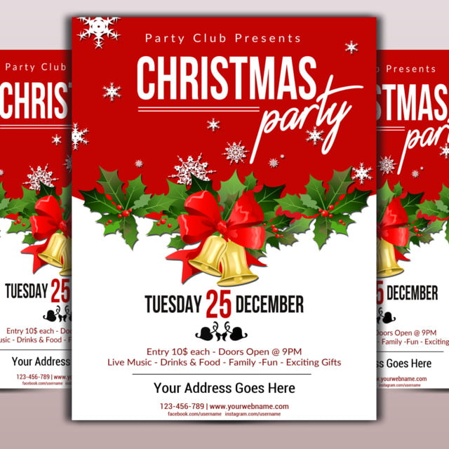 Christmas Flyer Template Template for Free Download on Pngtree