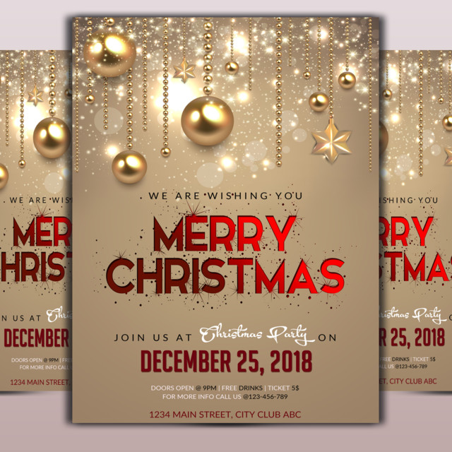 Christmas Contest Flyer.Merry Christmas Flyer Template Template For Free Download On