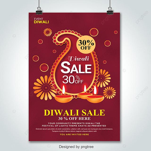 Big Diwali Sale Flyer Template For Free Download On Pngtree
