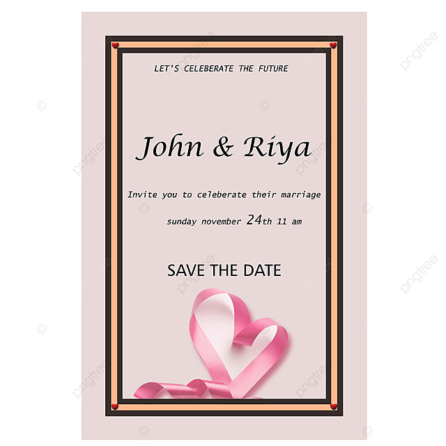 Simple Wedding Invitation Card Template For Free Download On Pngtree