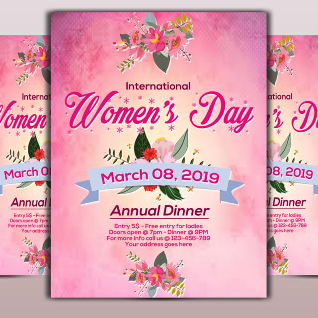 women day flyer template template for free download on pngtree