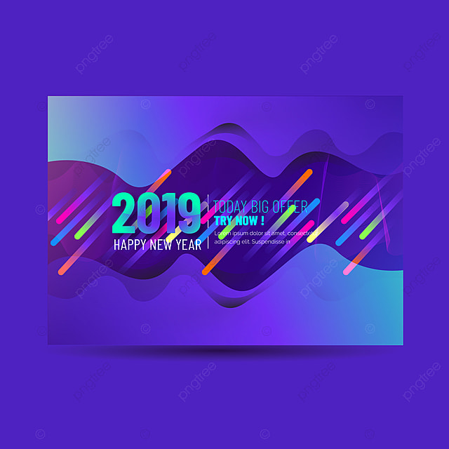 2019 happy new year abstract background banner with blue color template for free download on pngtree - New years colors 2019 ...