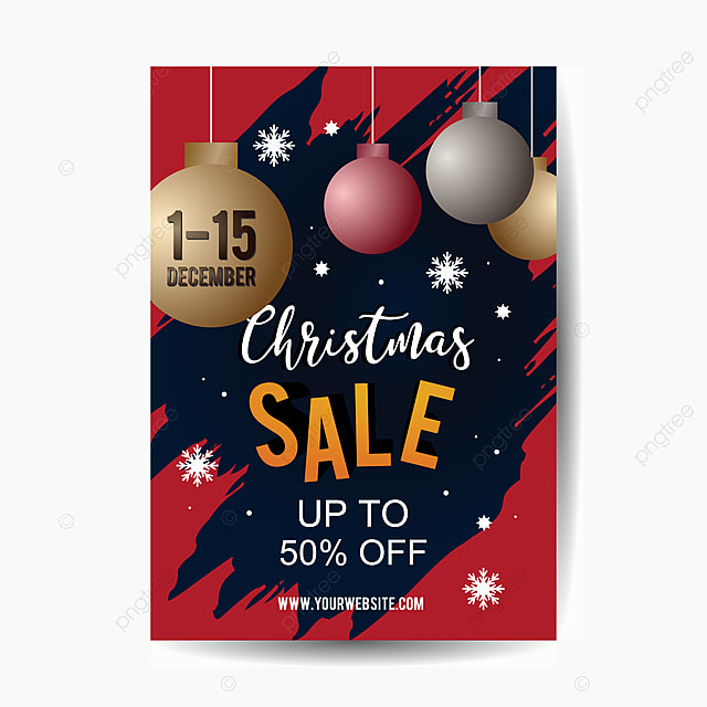 christmas sale poster template for promotion advertisement template