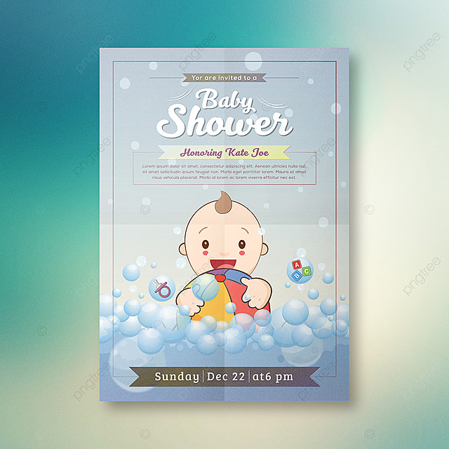 Baby Shower Invitation Card Design Template For Free Download On Pngtree