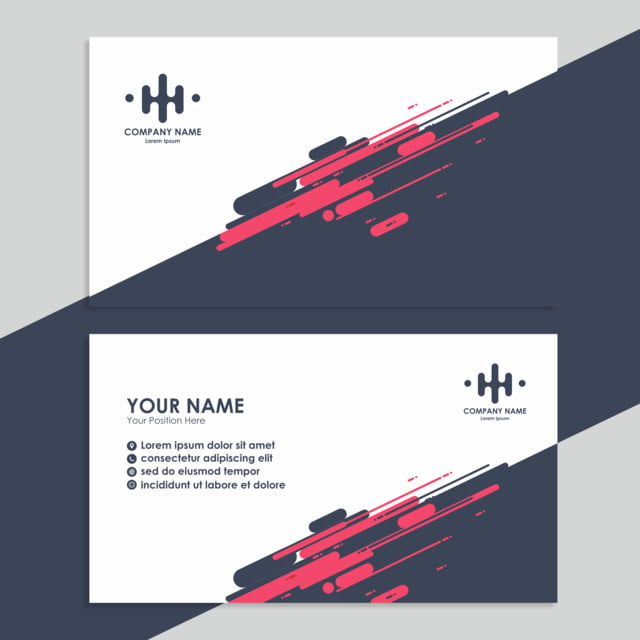 Business Card Template With Cool Design