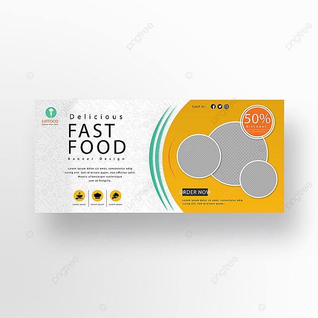 fast food creative banner design template for free