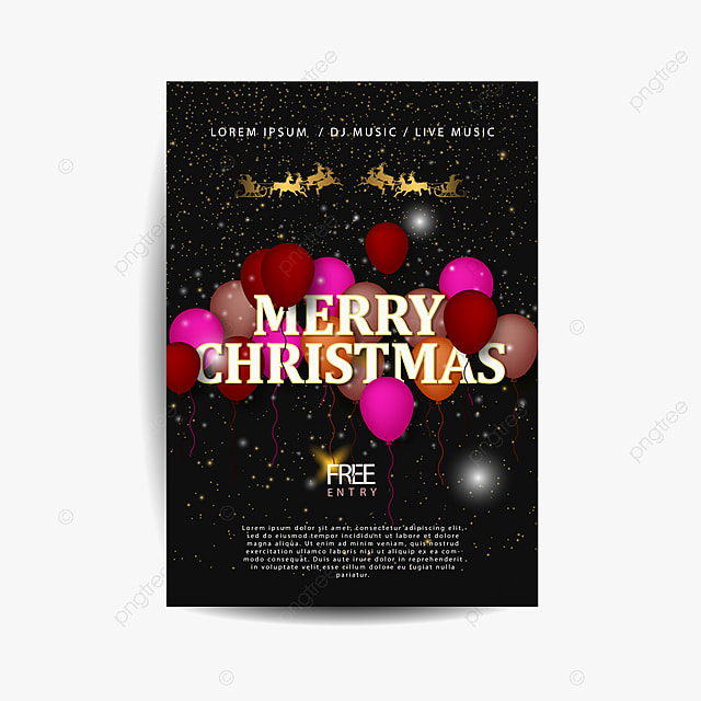 Merry Christmas Party Invitation Template For Free Download On Pngtree