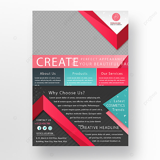 Perfect Makeup Business Brochure Template For Free Download On Pngtree