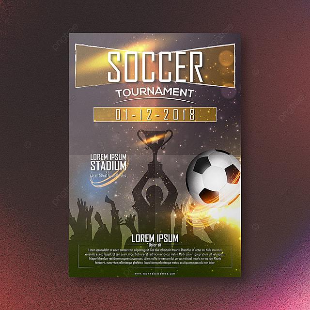 soccer tournament flyer template