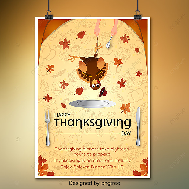 Thanksgiving Day En Old Poster Template