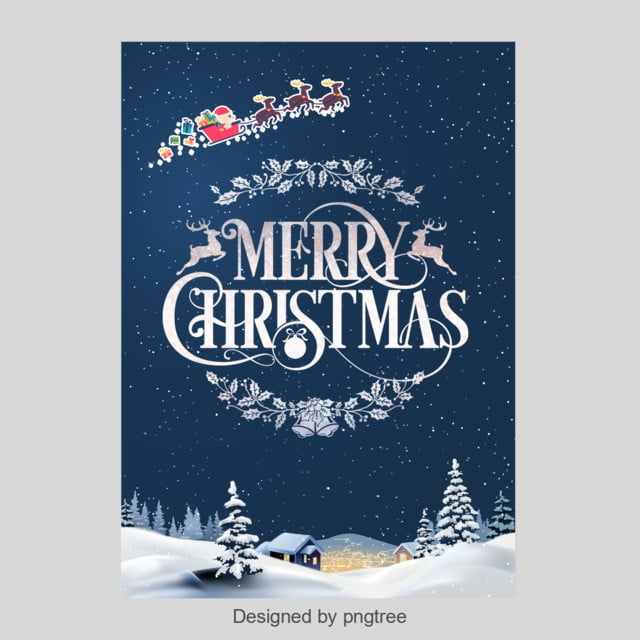 blue snow merry christmas poster template for free download on pngtree