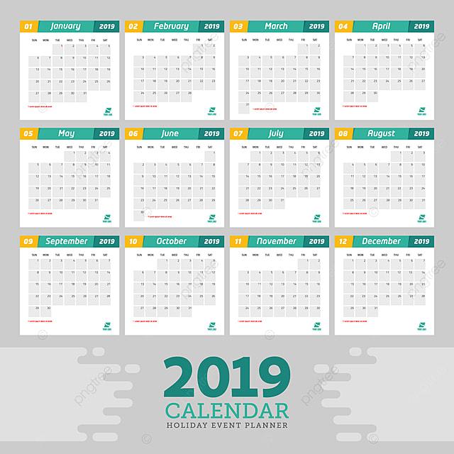 template calendar event planner 2019 template