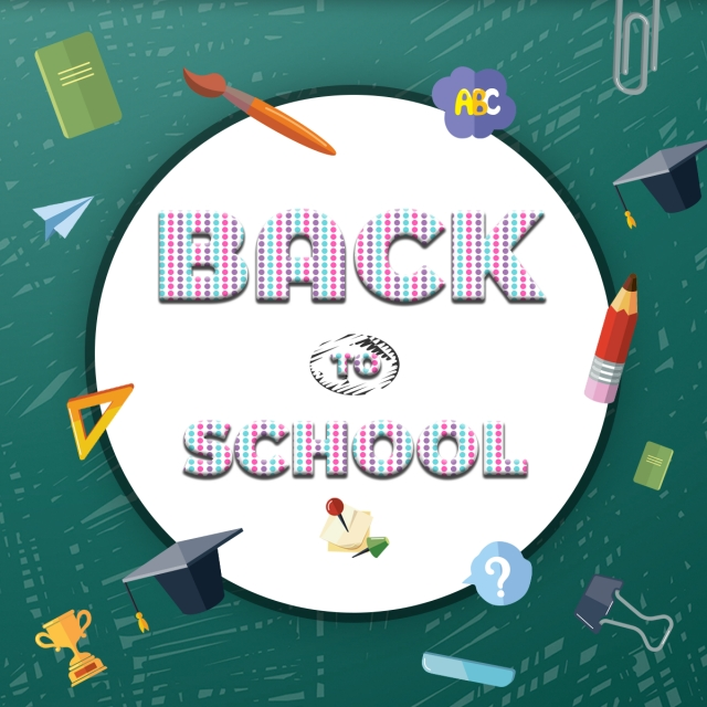 Seamless And Colorful Dot With Back To School Fonts Template