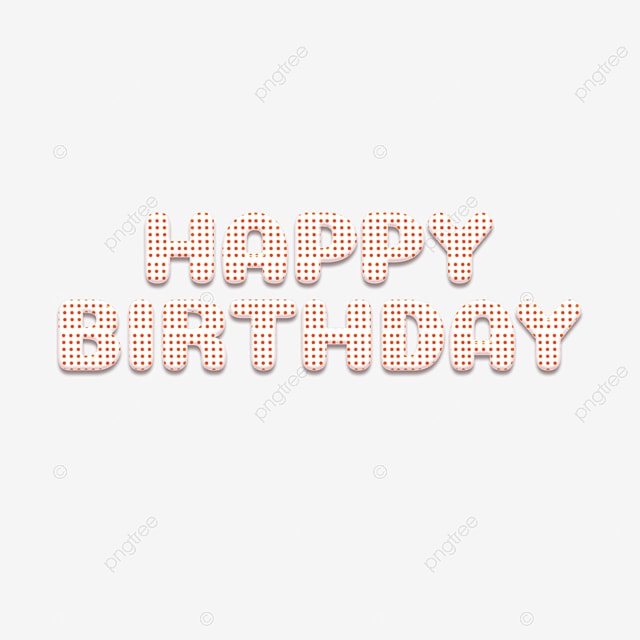 Cute Dot Happy Birthday Simple Fonts Template For Free