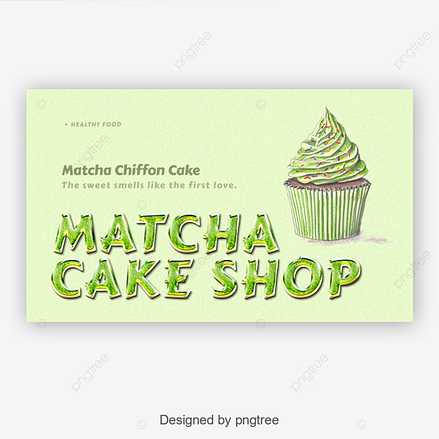 handpaint matcha cake shop fonts template for free download on pngtree