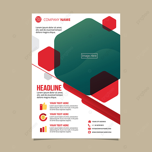 Flyer Pamphlet Brochure Template Vector Illustration Template For