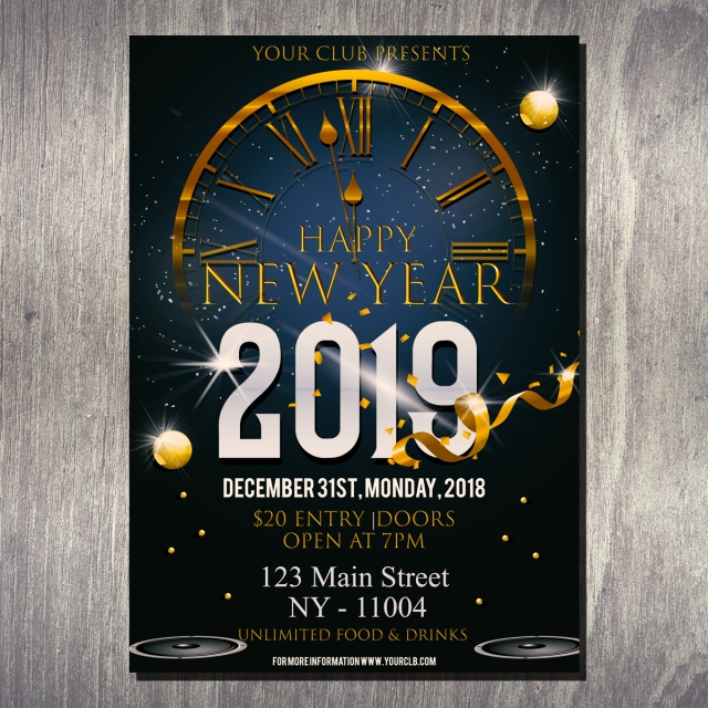 new year eve party flyer template for free download on pngtree