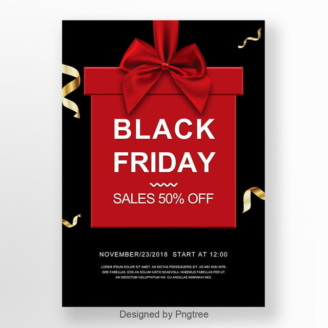 fashionable and elegant black friday promotional poster template for