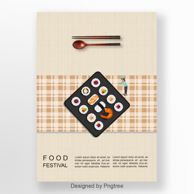 The Type Of The Sushi Can Be Cardboard Poster Template For Free