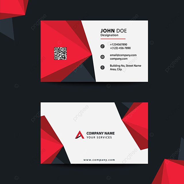 Saubere Flache Design Schwarz Und Rot Für Corporate Business
