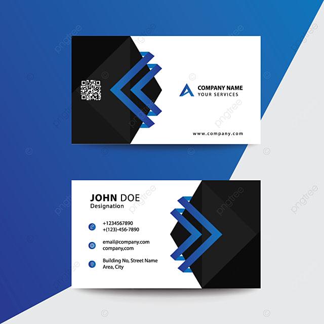 Saubere Flache Design Blau Schwarz Premium Corporate