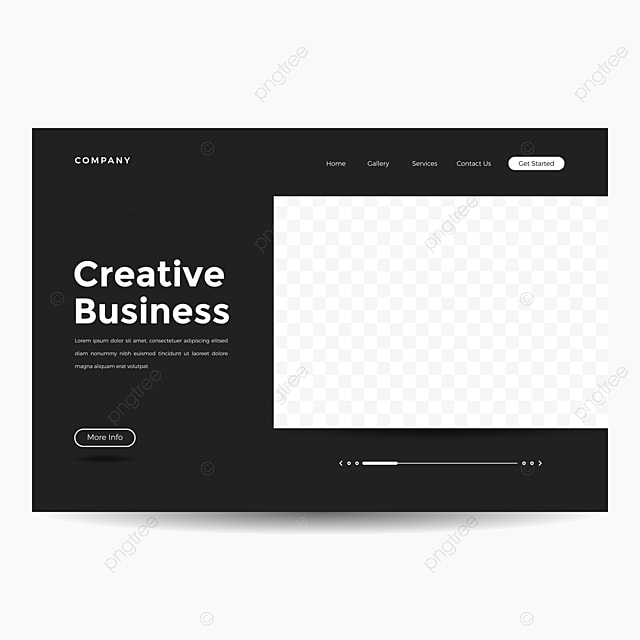 landing page website template with wavy shape background template