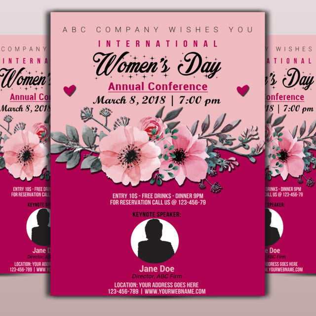 Annual Womens Day Flyer Template For Free Download On Pngtree