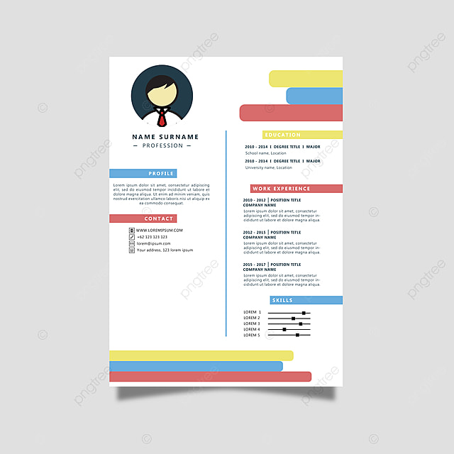 Curriculum Vitae Template Free Download South Africa Free Cv Templates Jobfishing Download Cv: Colorful Curriculum Vitae Template For Free Download On Pngtree