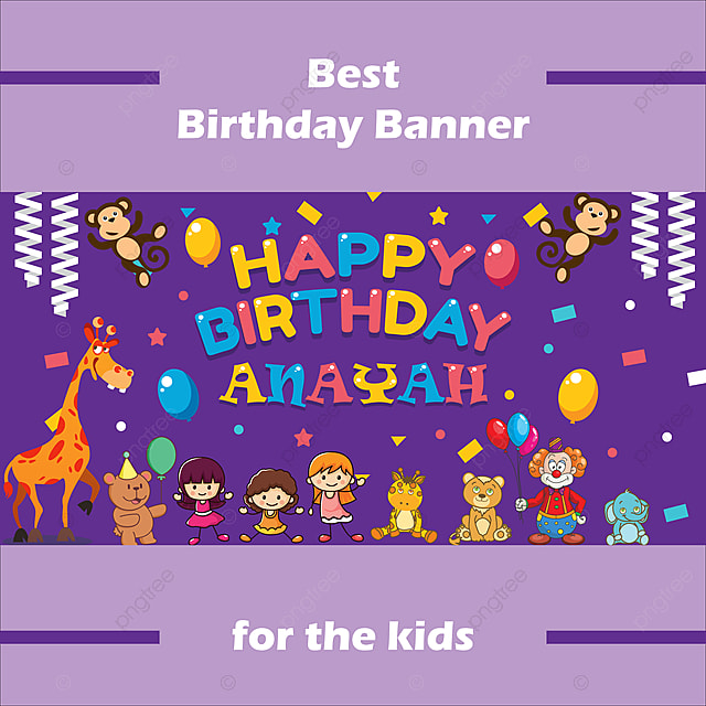 Happy Birthday Banner Template | Colorful Happy Birthday Banner Template For Free Download On Pngtree