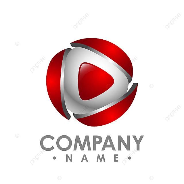 Creative Abstract 3d Media Play Button Vector Logo Design