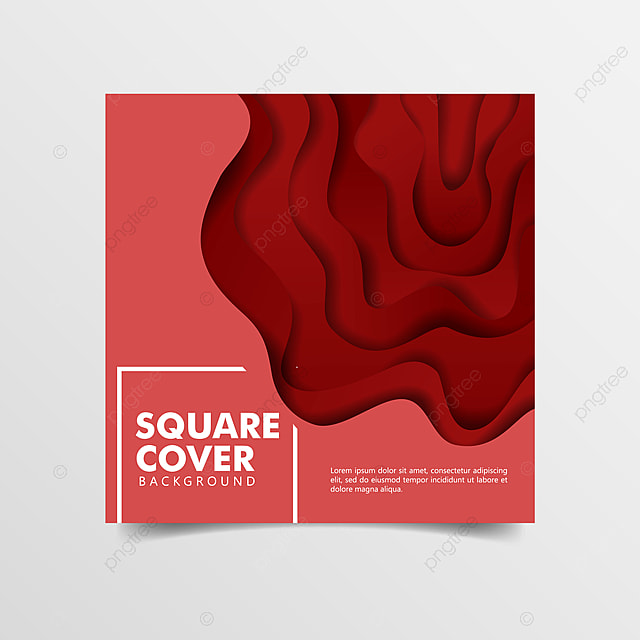 minimalist 3d paper cut art square background template for free