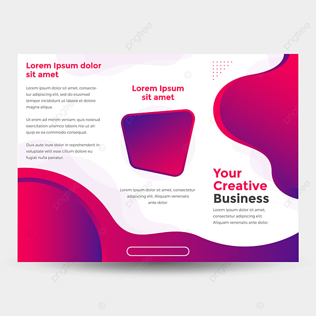 modern wavy trifold business brochure template for free download on