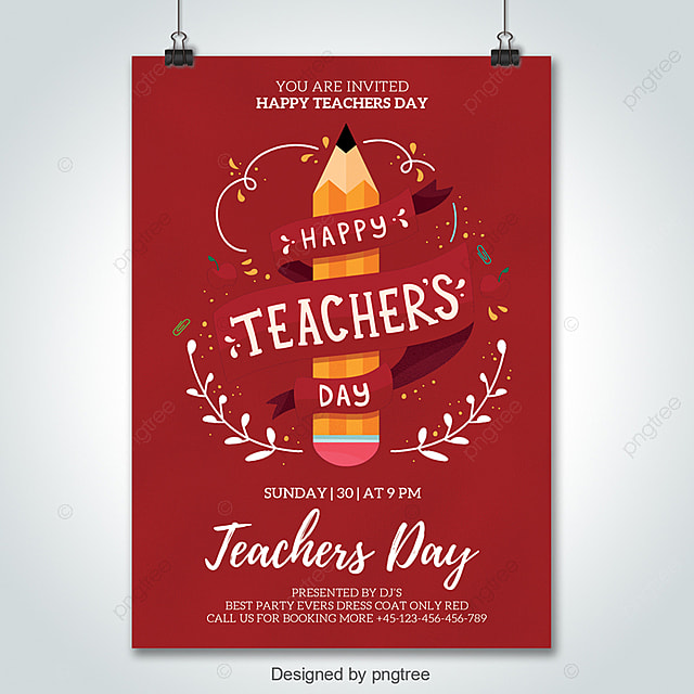 teachers day flyer psd template template for free download on pngtree
