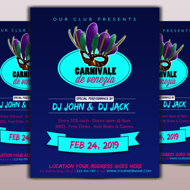 carnival flyer template template for free download on pngtree