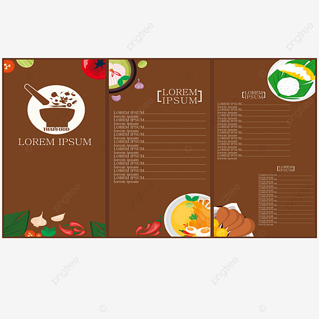 thailand food menu template template for free download on pngtree