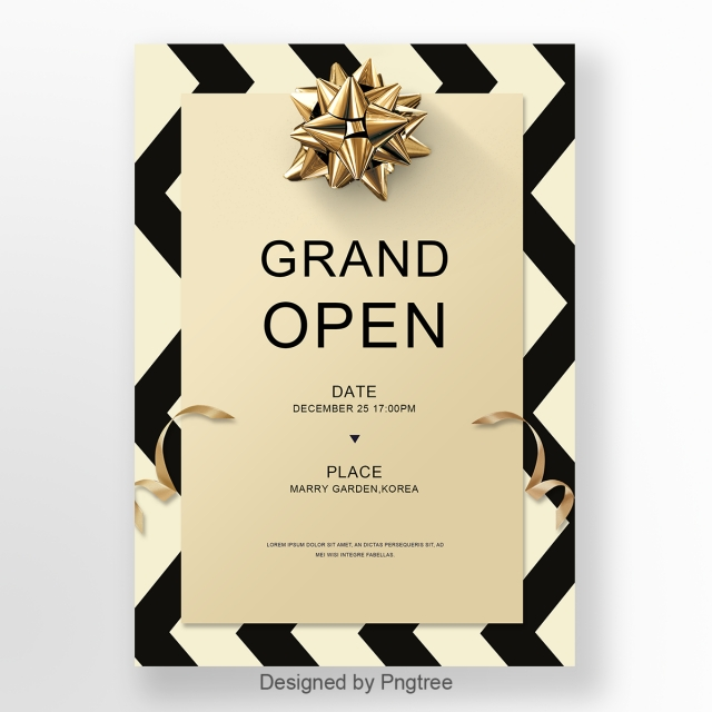Business Invitation Letter With Simple Stripes Template For