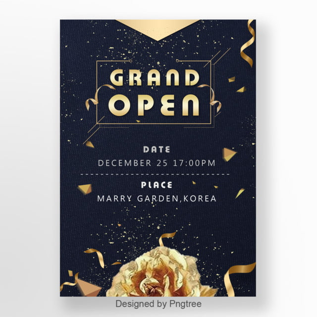 Black Opening Ceremony Promotional Invitation Letter