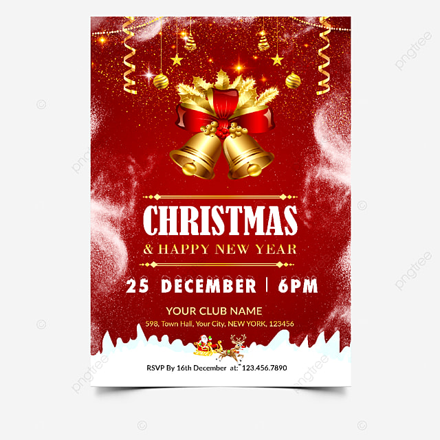 Christmas Flyer Invitation Template For Free Download On Pngtree