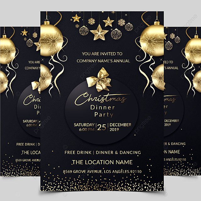 christmas party invitation template for free download on pngtree
