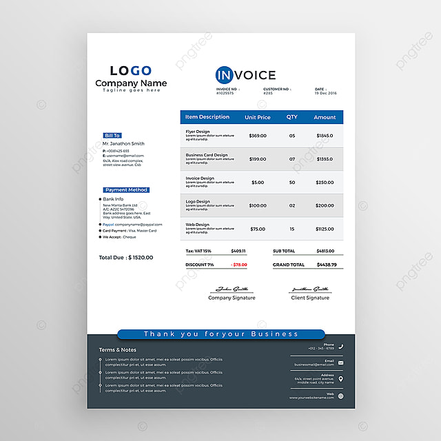Corporate Invoice Template Template For Free Download On Pngtree