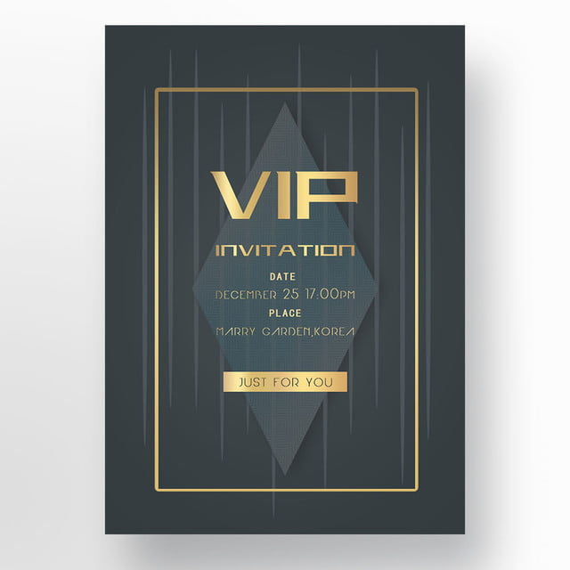 golden high end membership invitation letter template for