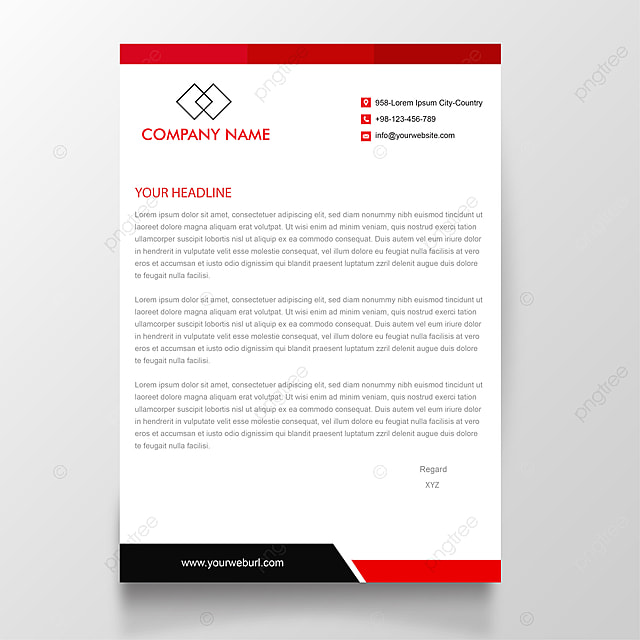 modern red letterhead template template for free download on pngtree