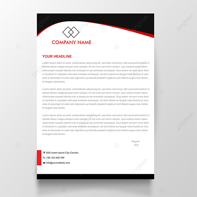 red-and-black-modern-letterhead-design-png_45724 Example Of Formal Business Report on